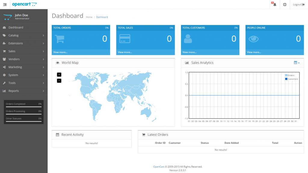 OpenCart Interface