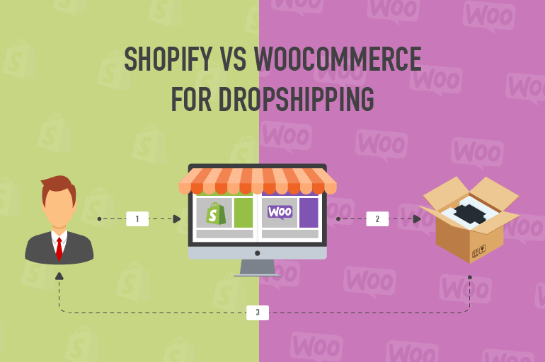 shopify vs woocommerce for dropshipping