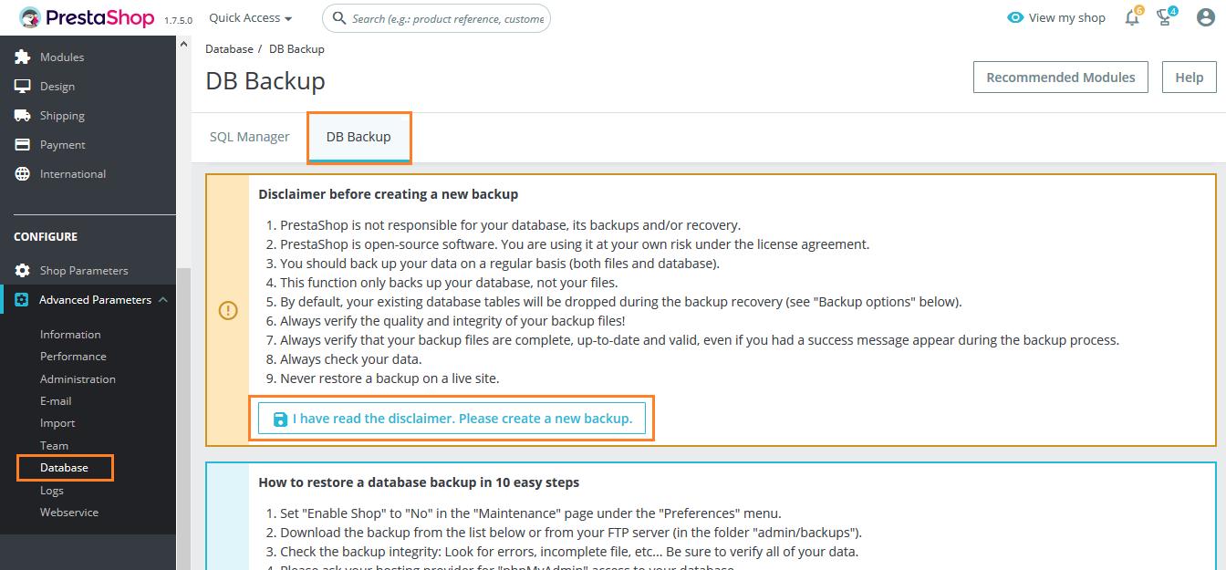 Create Prestashop Database (Prestashop to Magento)