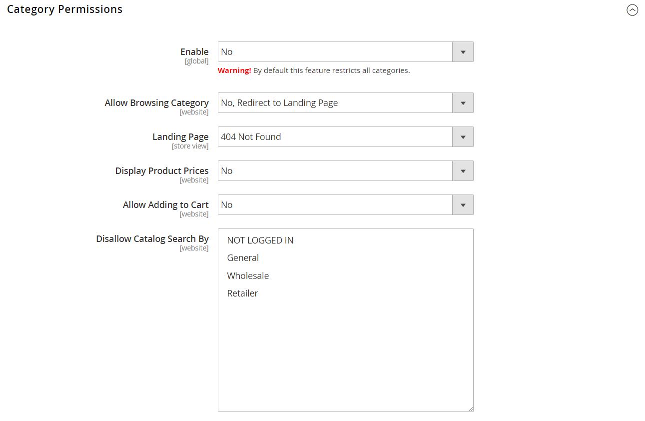Catalog permissions