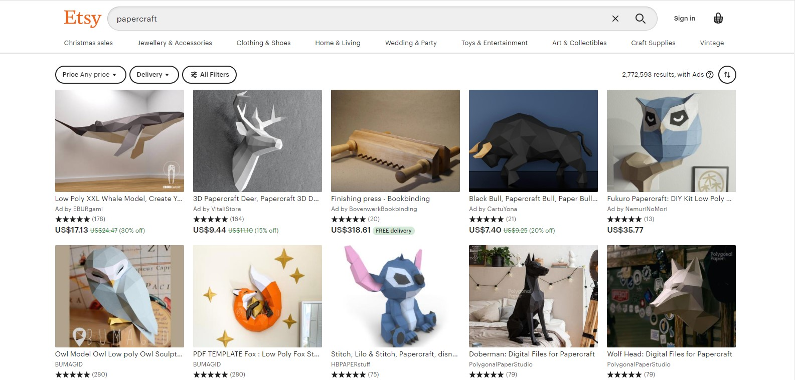 Papercraft - Top 10 Best Selling Items on Etsy