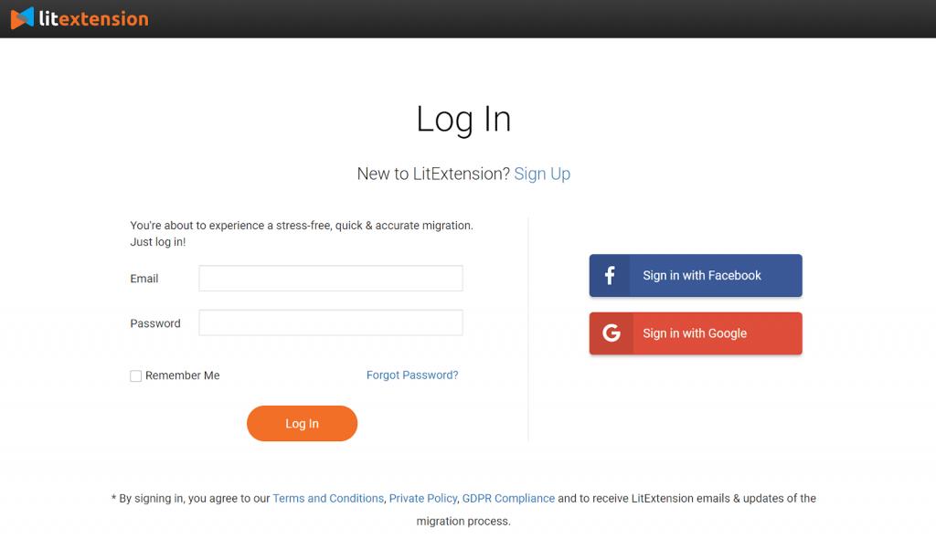 Register a LitExtension account